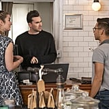 David Rose's Fuzzy Black Sweater on Schitt's Creek