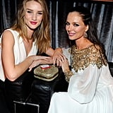 Rosie Huntington-Whiteley and Georgina Chapman at the Golden Globes.