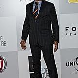 Giancarlo Esposito sported a fedora.