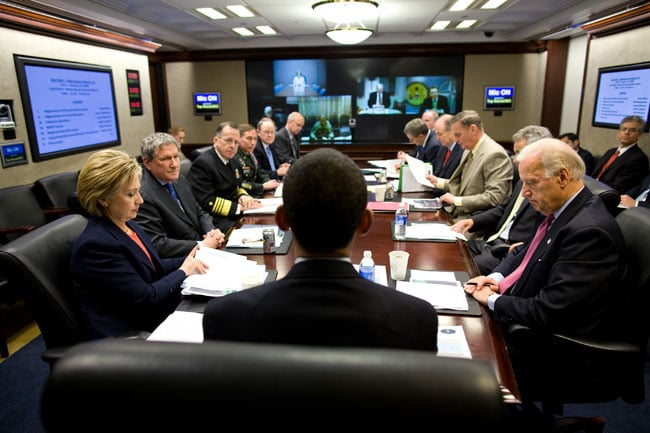 Meeting with the national security team for the first time in the ...