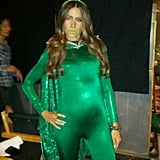 Sofia Vergara showed off a green ensemble on the Modern Family set — maybe for an upcoming Halloween episode? Source: Sofia Vergara on WhoSay