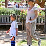 Gwen Stefani and Kingston.