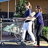Drew Barrymore went to the grocery store.