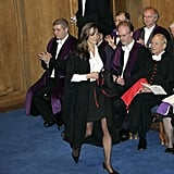 Kate Middleton wore a gown for her graduation from St. Andrew's University in 2005.