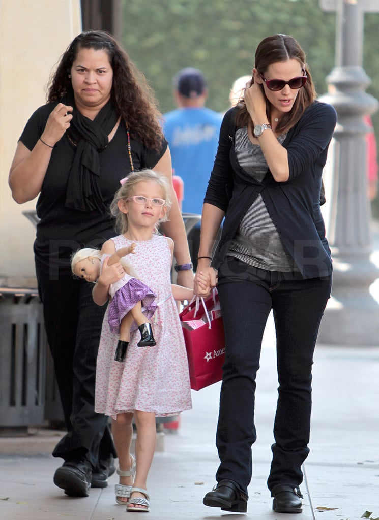 Jennifer Garner and Violet Affleck left a birthday party at The Grove.