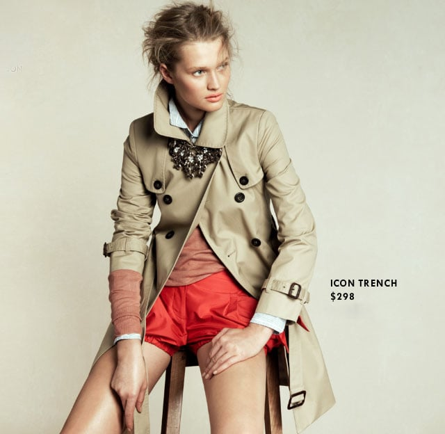 Invest: Icon Trench ($298)  Why: Sure, you can score a trench for a lot less, but this piece is timeless. Invest in this kind of classically tailored style, and it won't need replacing year after year.