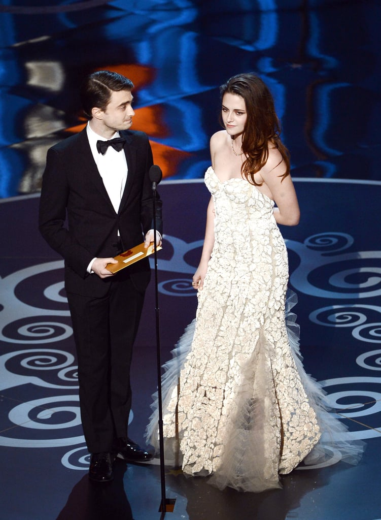 Kristen Stewart and Daniel Radcliffe presented together at the 2013 Oscars.