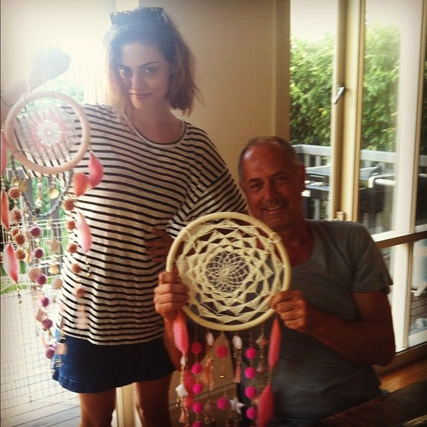 Phoebe Tonkin's dad brought back some dream catchers from Bali. Source: Instagram user phoebejtonkin