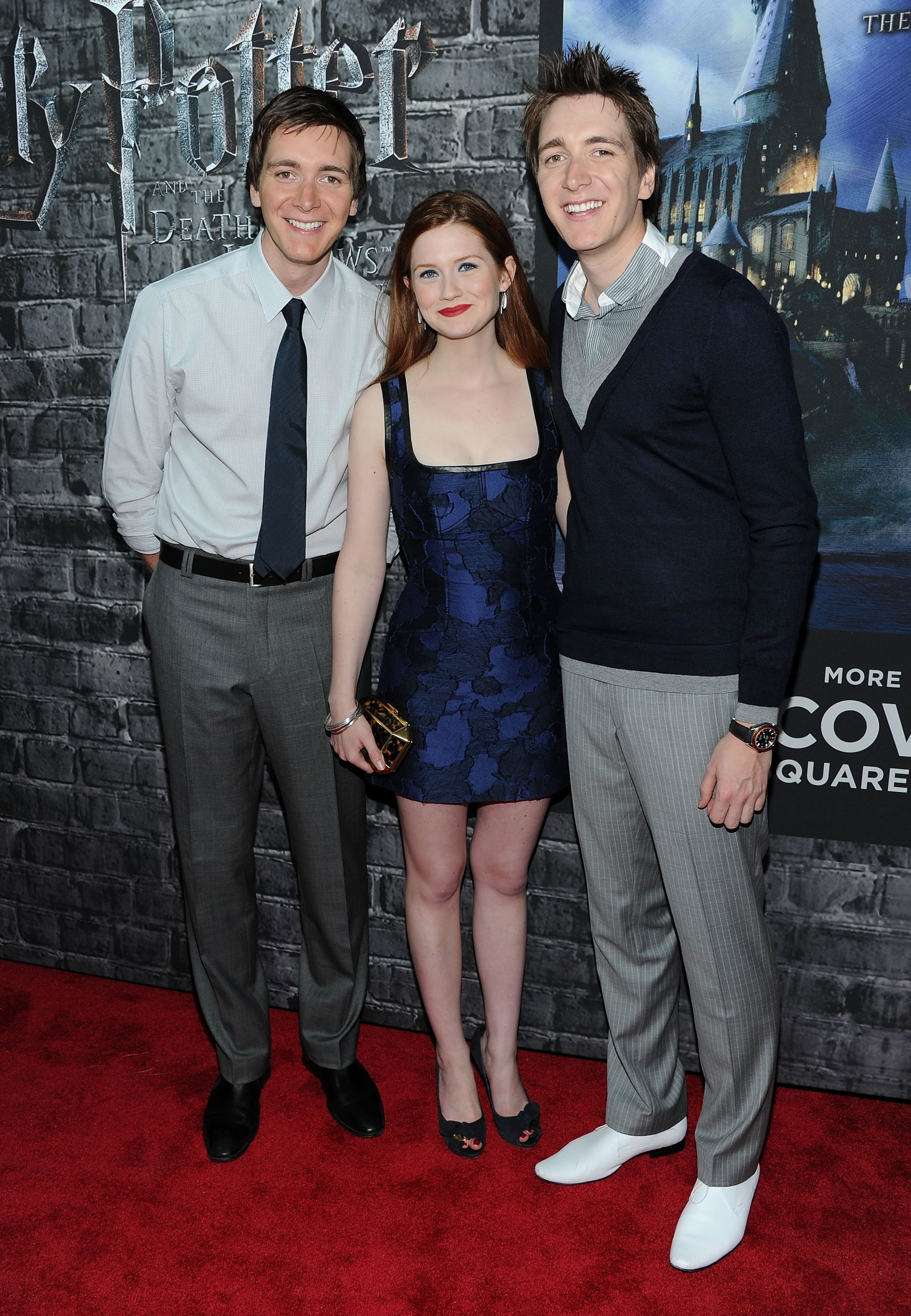 Oliver Phelps, Bonnie Wright and James Phelps