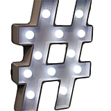 Hashtag Marquee Light
