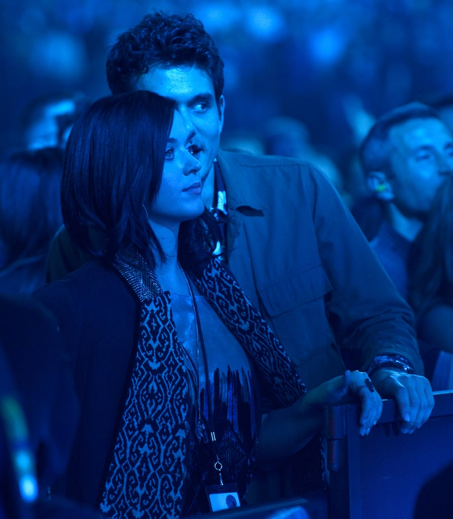 Katy Perry and John Mayer stayed close at the concert in NYC.