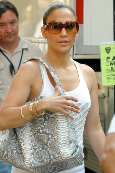 JLO leaving the set of her movie