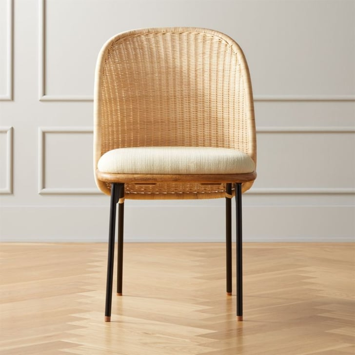 Chord Woven Back Dining Chair Best Rattan Indoor