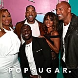 Pictured: Halle Berry, Will Smith, Queen Latifah, Dwayne Johnson, and Kevin Hart