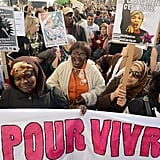 In Paris, women gathered for the March 8 For All event.