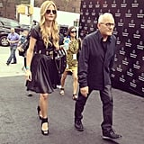 Max Azria has arrived! Must be time for the BCBG show.