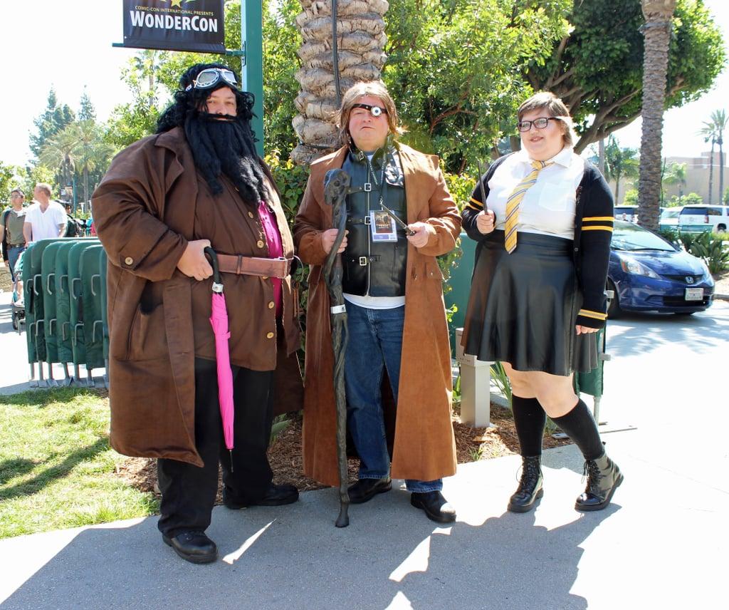 Hagrid, Mad-Eye Moody, and a Hufflepuff Student