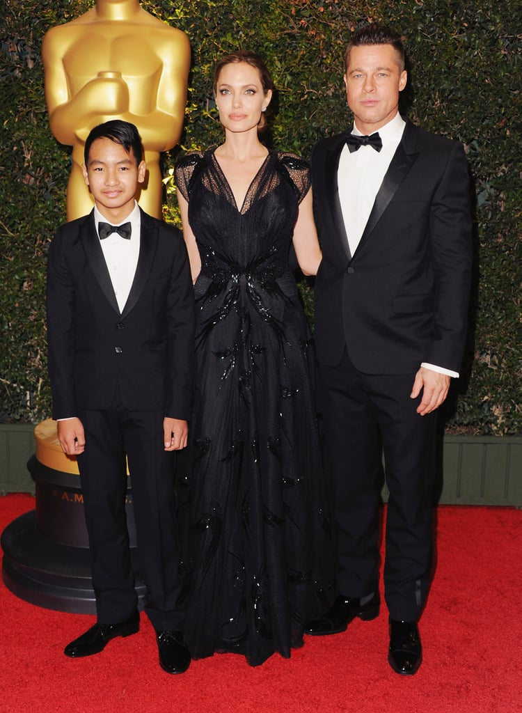 Brad, Angelina, and Maddox made a stylish trio at the Governor Awards in November 2013.