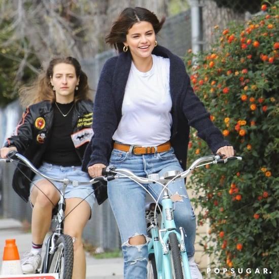 Selena Gomez's Blue Cardigan