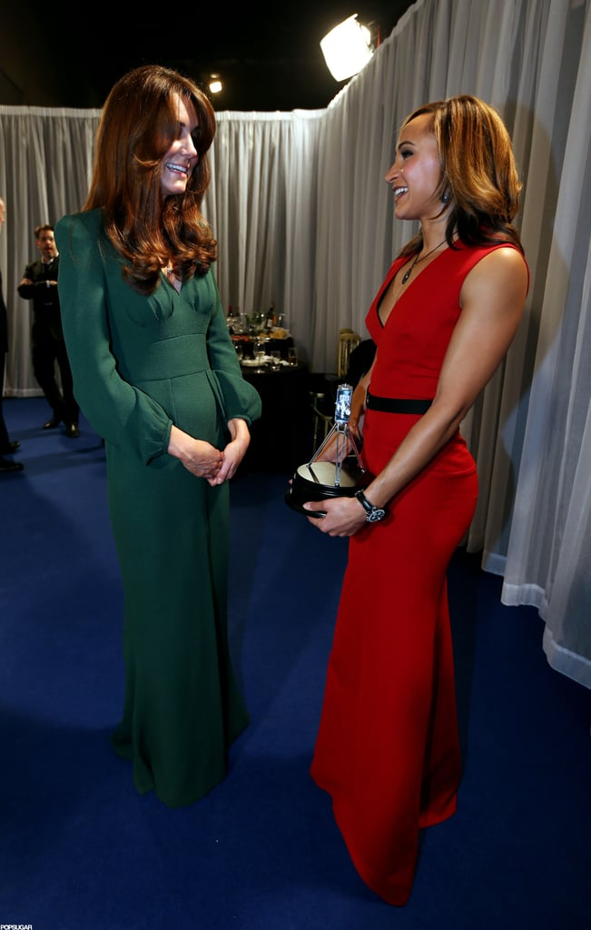 Kate Middleton chatted with awards winners backstage at the BBC Sporty Personality Of The Year Awards in London.