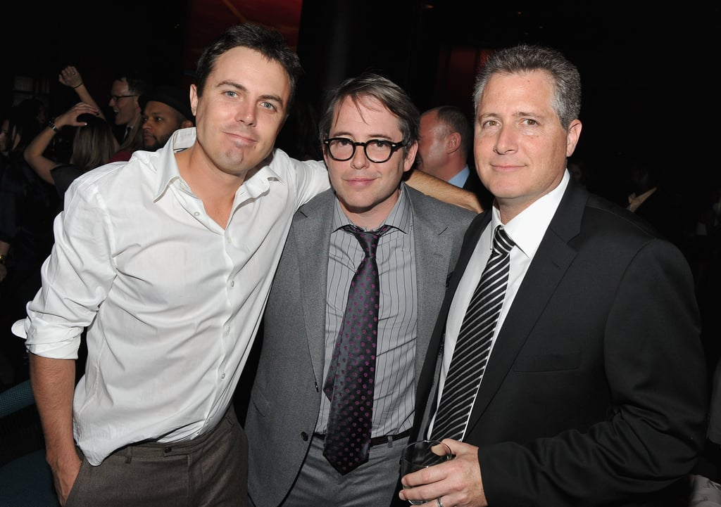 Casey Affleck ditched his jacket and posed for a photo with Matthew.