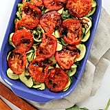"Grilled Tomatoes and Basil Zucchini ""Noodles"""