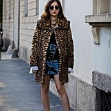 Draw Attention to What's Underneath Your Leopard Coat With a Touch of Patent Leather