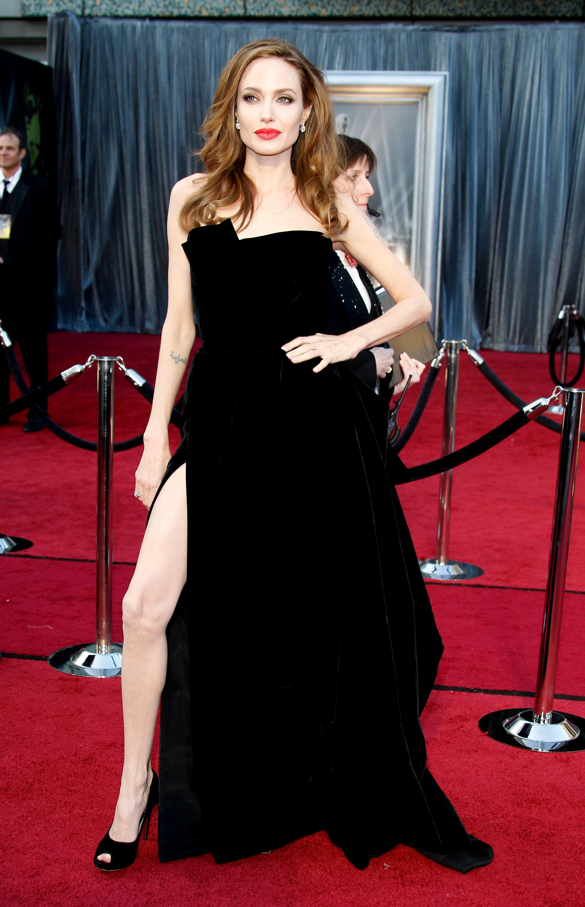 Angelina Jolie in Versace at the Oscars
