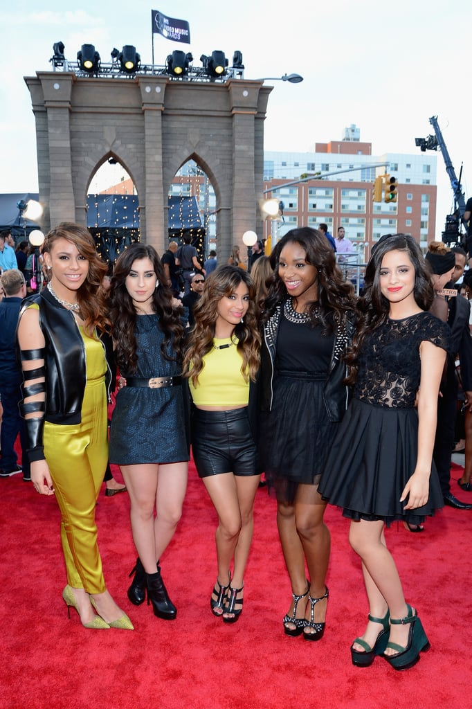 Fifth Harmony's Dinah Jane Hansen, Lauren Jauregui, Ally Brooke, Normani Kordei, and Camila Cabello attended the MTV VMAs.