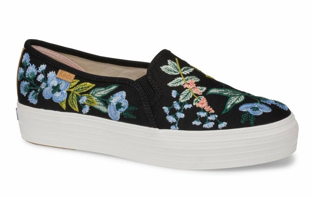 Keds x Rifle Paper Co. Triple Decker Embroidered Herb Garden