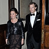 While not technically a royal, Pippa Middleton played the part at the Sugarplum gala in London with her handsome boyfriend on Thursday.
