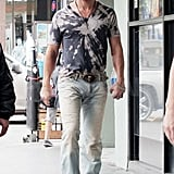 Matthew McConaughey in a tie-dye shirt for Magic Mike.