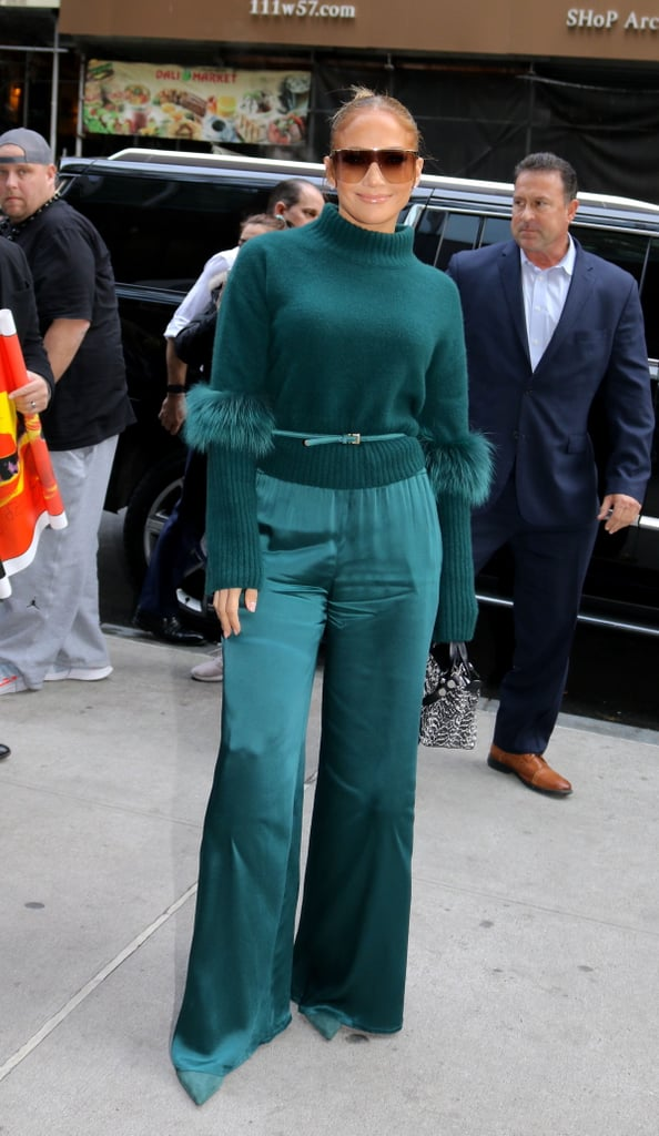 Jennifer Lopez Wearing Sally LaPointe in NYC