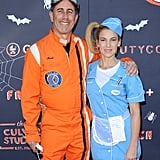 Jerry and Jessica Seinfeld as an Astronaut and a Diner Waitress