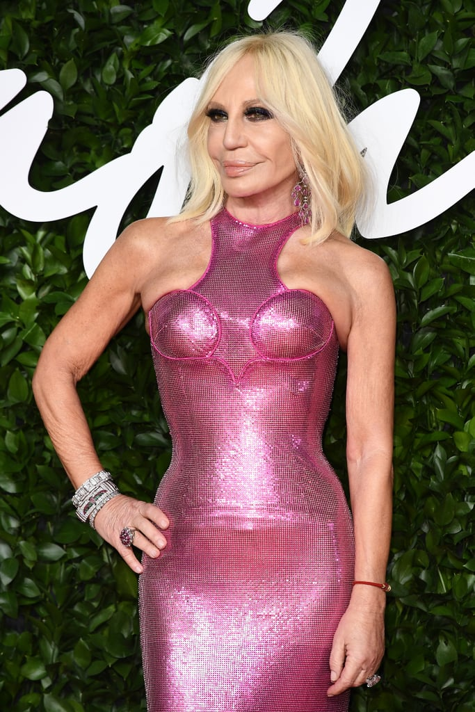 Donatella Versace at the British Fashion Awards 2019 in London