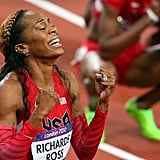 As she closed in on the gold for the women's 400m final, Sanya Richards-Ross was overcome with emotion.