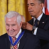 President Obama presented the Presidential Medal of Freedom to former Senator Richard Lugar of Indiana.