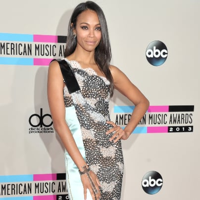 Zoe Saldana Dress at American Music Awards 2013