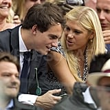 Chelsy Davy sat close to a new man at Wimbledon.