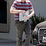 Jonah Hill toted the art book Hans Arp: Die Natur Der Dinge while in LA in July 2011.