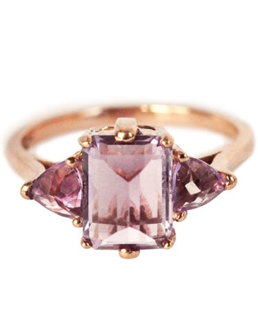 Anna Sheffield rose gold and amethyst Bea ring ($1,000)