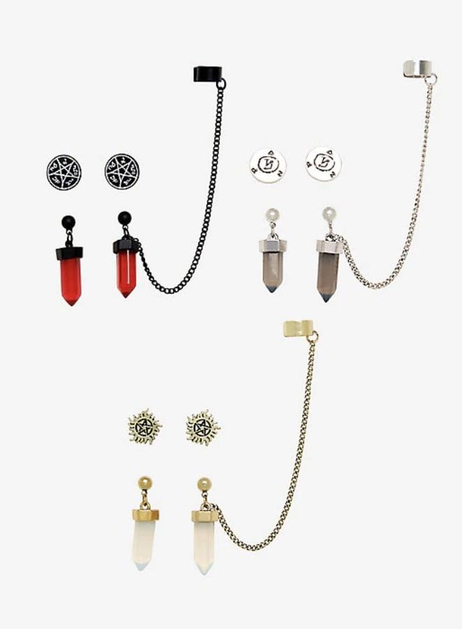 Protection Symbols Stud and Ear Cuff Set