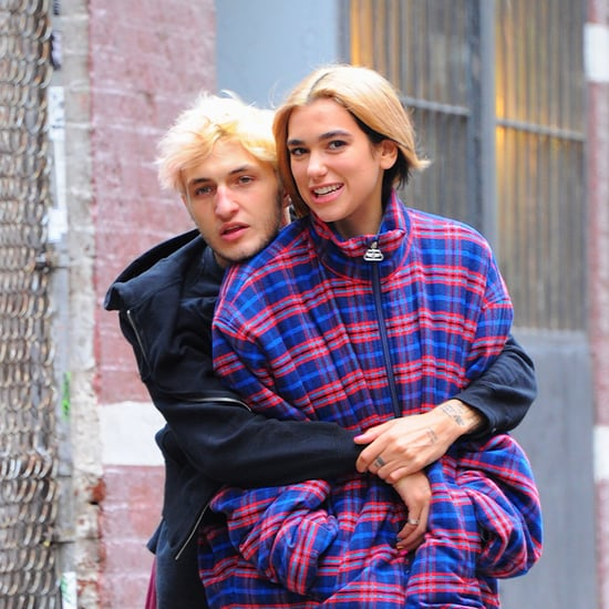 Aww! Anwar Hadid Wrapped His Balenciaga Coat Around Dua Lipa