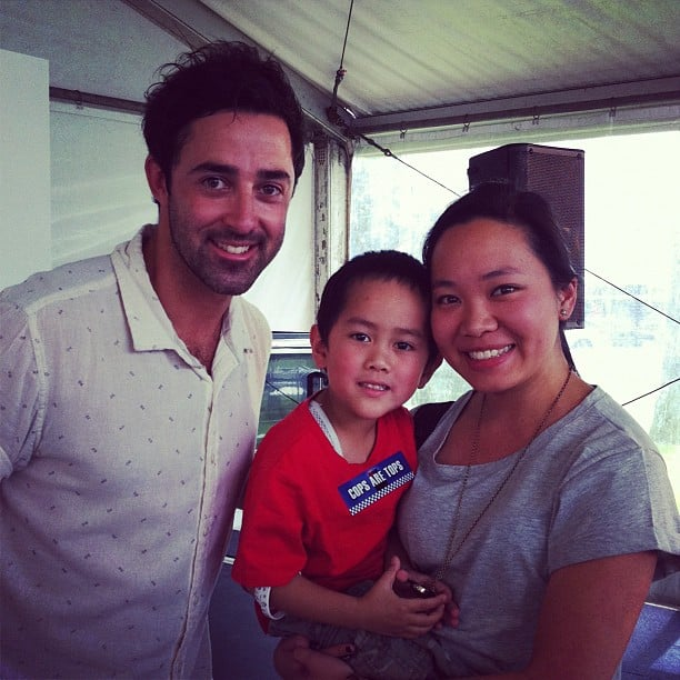Jess introduced her cute-as-a-button godson to MasterChef 2012 winner Andy at a neighbourhood cook-off.