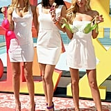 Adriana Lima, Erin Heatherton, and Candice Swanepoel posed for Victoria's Secret.
