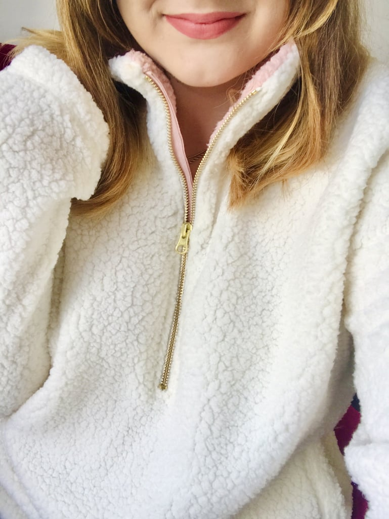 The Coziest Sherpa Pullover Sweatshirt | Editor Review 2020