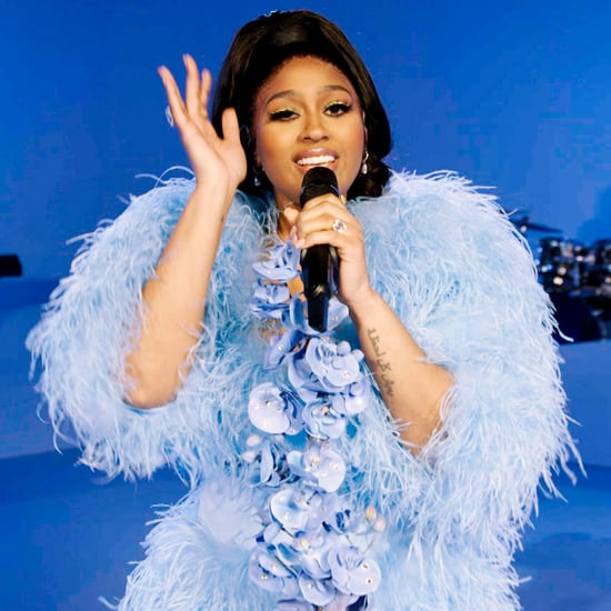 Jazmine Sullivan's Blue Feather Dress at the NAACP Awards