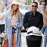 Chrissy and John shared a laugh while strolling to lunch with Luna in NYC.
