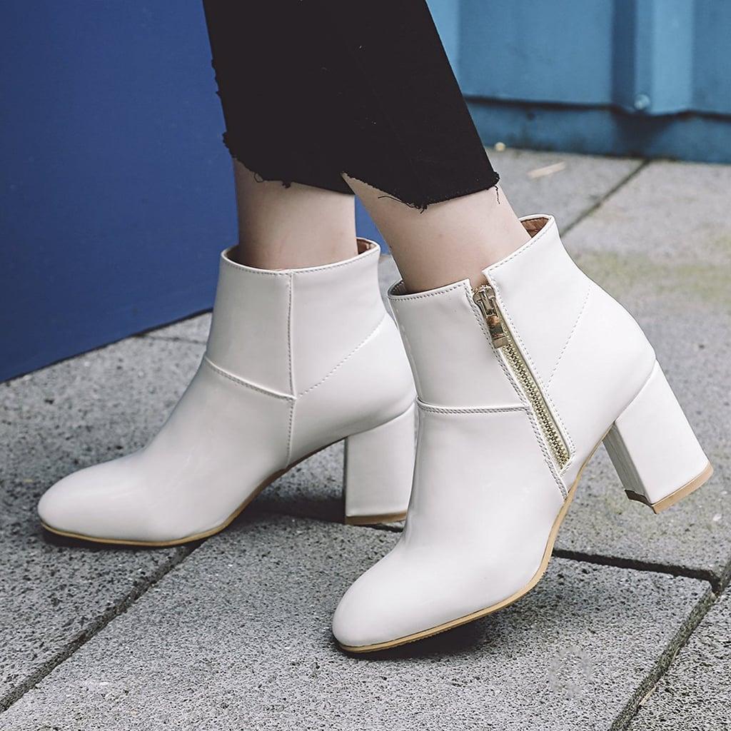 Show Shine Chunky Heel Ankle Boots