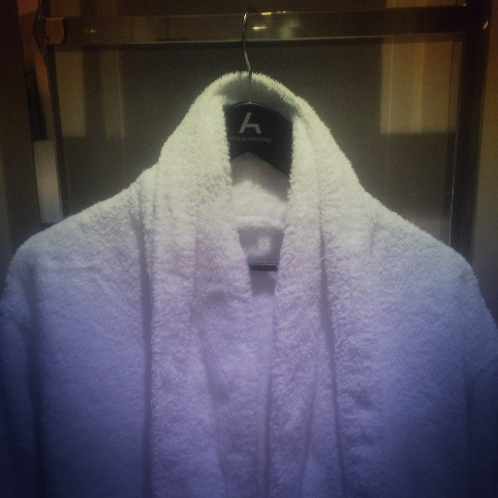 After a loooong day, the hotel robe was calling my name.